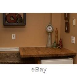 Butcher Block Countertop 6 ft 2 in. L x 2 ft. 1 in. D x 1.5 in. Antimicrobial