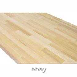 Butcher Block Countertop 6 ft. L x 25 in. D x 1.5 in. T Antimicrobial Solid Wood