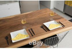 Butcher Block Countertop 6x3ft Oiled Acacia Solid Wood Unique Live Edge