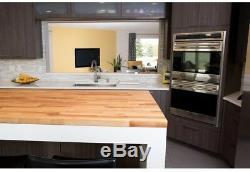 Butcher Block Countertop 8 ft. 2 in. X 2 ft. 1 in. X 1.5 in. Solid Wood Birch