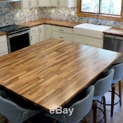 Butcher Block Countertop 8 ft. Antimicrobial Solid Wood Unfinished