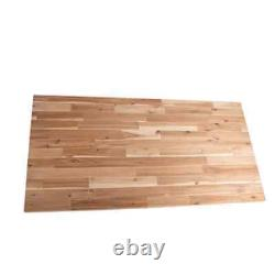 Butcher Block Countertop 8 ft. L x 25 in. D x 1.5 in. T Antimicrobial Acacia