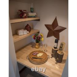 Butcher Block Countertop 8 ft. L x 25 in. D x 1.5 in. T Antimicrobial Solid Wood