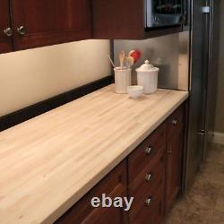 Butcher Block Countertop 8 ft. L x 25 in. D x 1.5 in. T Unfinished Maple
