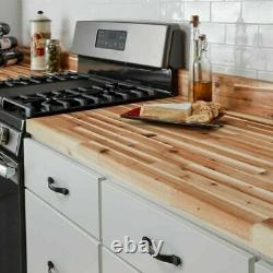 Butcher Block Countertop Antimicrobial Heat Resistant Acacia Wood Unfinished