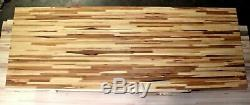 Butcher Block Countertop Hickory Wood Workbench Top (Custom Sizes Available)
