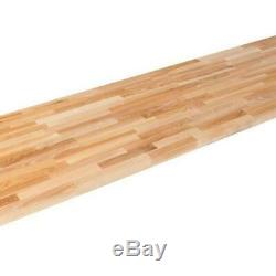 Butcher Block Countertop Kitchen Antimicrobial Unfinished Ash 98X25x1.5 Inch New
