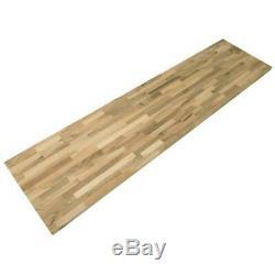 Butcher Block Countertop Kitchen Wood Unfinished European Walnut 50X25x1.5 Inch
