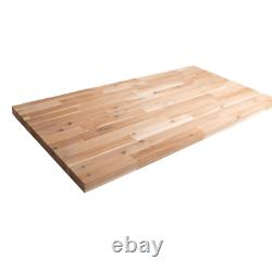 Butcher Block Countertop Unfinished Acacia 6 ft. L x 39 in. D x 1.5 in. T