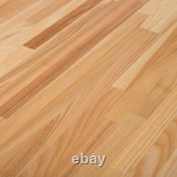 Butcher Block Countertop Unfinished Ash 8 ft. L x 25 in. D x 1.5 in. T