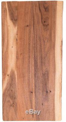 Butcher Block Countertop in Oiled Acacia with Live Edge Solid Wood 52 Lb. New