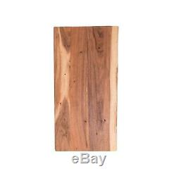 Butcher Block Countertops Oiled Acacia withLive Edge 5.00 ft L Solid Wood Brown