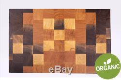 Butcher Block, Cutting Board, Walnut and Oak, End Grain, Chopping Board, Wood