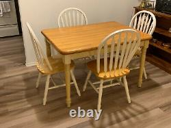 Butcher Block Dinner Table and Four Chairs