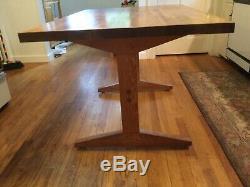 Butcher Block Trestle Table