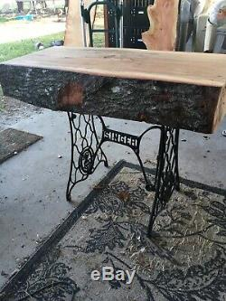 Butcher block table Live Edge