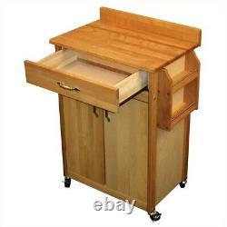 Catskill Craftsmen 27 Inch Butcher Block Kitchen Cart