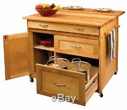 Catskill Craftsmen, Inc. Kitchen Island with Butcher Block Top KL1296