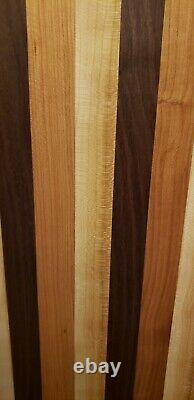 Chef's Large Cherry Walnut Maple Wood Cutting or Charcuterie Board Butcher Block