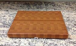 Cherry Butcher Block Cutting Board NEW end grain 16 X 20 X 1-7/8
