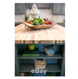 Countertop Butcher Block Durable Unfinished Maple Heat Resistant Woodworking