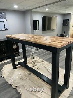 Custom hightop butcher block kitchen/bar table