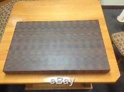 Cutting Board 3 Thick Walnut Butcher Block End Grain 24 X 36 Dark Brown Wood