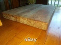 Cutting Board WOOD Butcher Block Vintage Large 19.5 L THICK HEAVY Hardwood