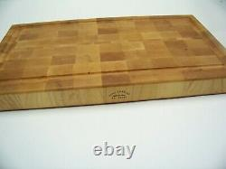 EX Large Hard Maple End Grain Butcher Block With Juice Groove & Anti-Skid Pads