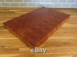 End-Grain Cherry Hardwood Butcher Block 17 1/2 x 11 1/2 x 1 3/8