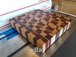 End Grain Cutting board, Made of Hardwoods, Butcher Block Look, Food Safe Finish