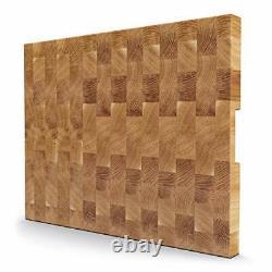 End Grain Oak Wood Cutting Board, Handmade European Oak Butcher Block, Large Woo