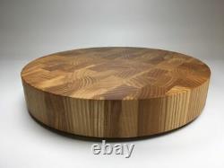 End Grain Round Cutting Board, Round Butcher Block, Large Chopping Board