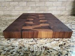 End Grain cutting board black walnut Handmade Butcher Block