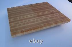 End grain butchers block cutting board. Maple. Custom Made To Order