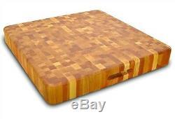 Extra Large Cutting Board Butcher Block End Grain 20 X 20 Slab Kitchen Birch