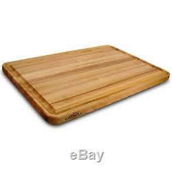 Extra Large Wood Cutting Board 20 x 30 Solid Hardwood Edge Grain Butcher Block