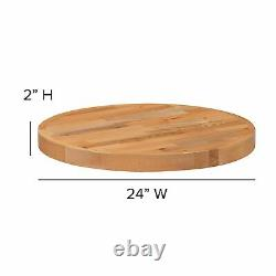 Flash Furniture 24 Round Butcher Block Style Table Top