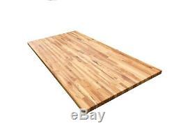 Forever Joint Hard Maple Butcher Block Table -1.5 x 30 x Custom Sizes