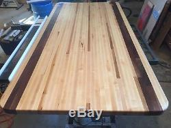 Forever Joint Maple Walnut Mix Butcher Block Top 1-1/2x36x 72 Wood Island Top