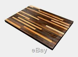 Forever Joint Salt & Pepper Butcher Block Table (1.5 x 30 x Custom Sizes)