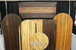 Forever Joint Salt & Pepper Butcher Block Wood Desk 1.5 x 26 x Custom Sizes