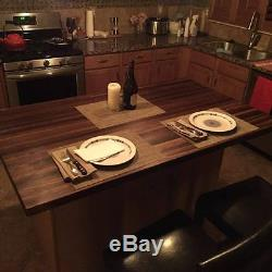Forever Joint Walnut Butcher Block Top 1-1/2 x 36 x 72 Wood Kitchen Table Top