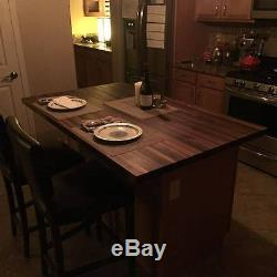 Forever Joint Walnut Butcher Block Top 1-1/2x36x60 Wood Cutting Board Top