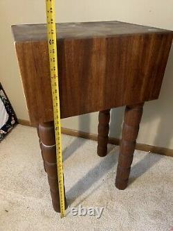 Gorgeous Vintage Wood Butcher Block Table