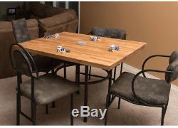 Hardwood Butcher Block Kitchen Countertop Table Cutting Board 25 x 74 x 1.5 Inch