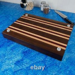 Hardwood Cutting Board Butcher Block With Juice Groove & Silicone Feet