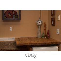 Hardwood Reflections 6 ft 2 L x 2 ft. 1 D x 1.5 T Butcher Block Countertop