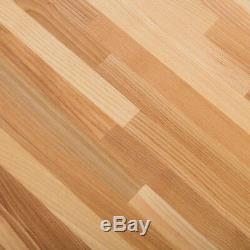 Hardwood Reflections Butcher Block Countertop Antimicrobial Wood Unfinished Ash