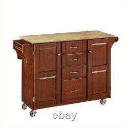 Home Styles Cherry Kitchen Cart